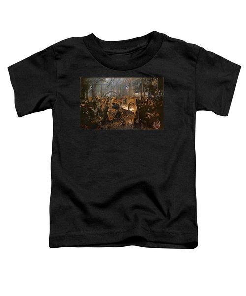The Iron-rolling Mill Oil On Canvas, 1875 Toddler T-Shirt by Adolph Friedrich Erdmann von Menzel