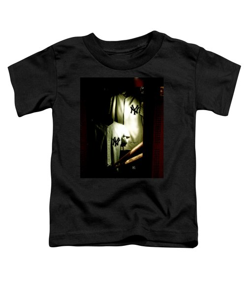 The Locker  Mickey Mantle's And Joe Dimaggio's Locker Toddler T-Shirt by Iconic Images Art Gallery David Pucciarelli