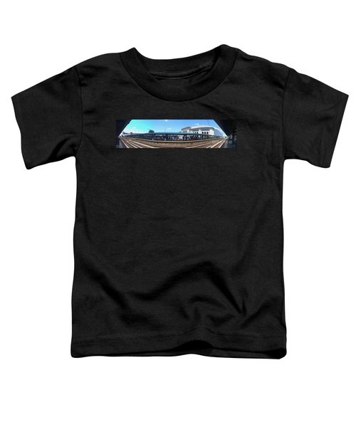 The Old And New Yankee Stadiums Panorama Toddler T-Shirt by Nishanth Gopinathan