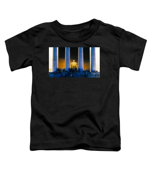 Tourists At Lincoln Memorial Toddler T-Shirt by Panoramic Images