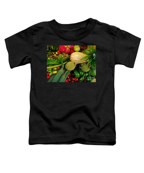 Tropical Fruits Toddler T-Shirt by Carey Chen