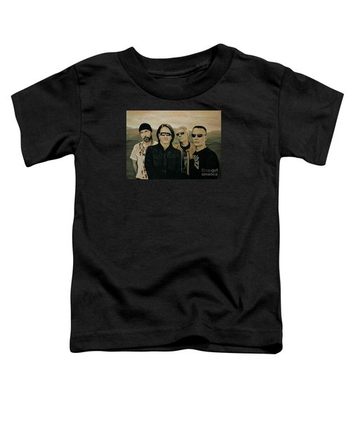U2 Silver And Gold Toddler T-Shirt by Paul Meijering