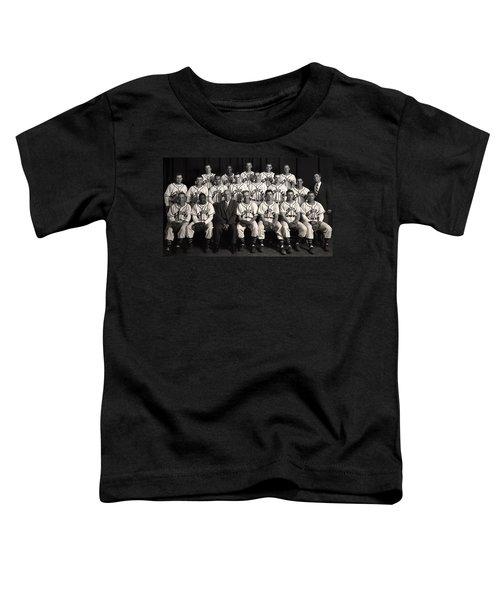 University Of Michigan - 1953 College Baseball National Champion Toddler T-Shirt by Mountain Dreams