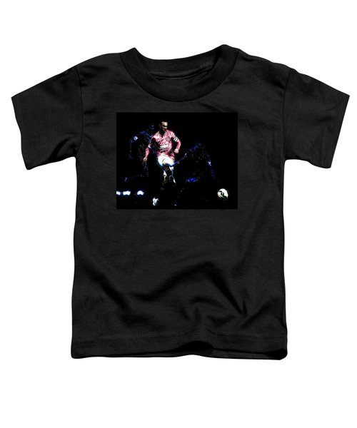 Wayne Rooney Working Magic Toddler T-Shirt by Brian Reaves