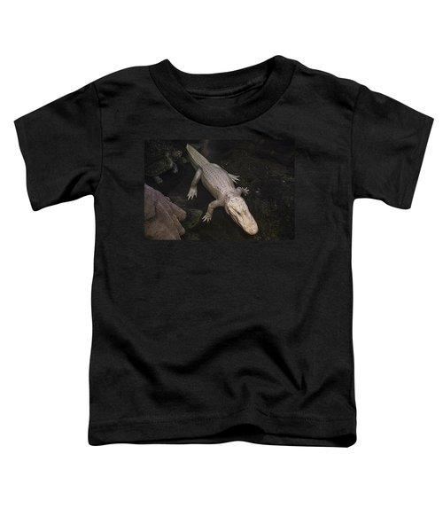 White Alligator Toddler T-Shirt by Garry Gay