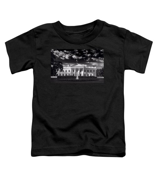 White House Sunrise B W Toddler T-Shirt by Steve Gadomski