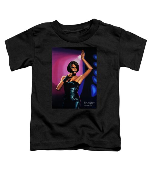 Whitney Houston On Stage Toddler T-Shirt by Paul Meijering