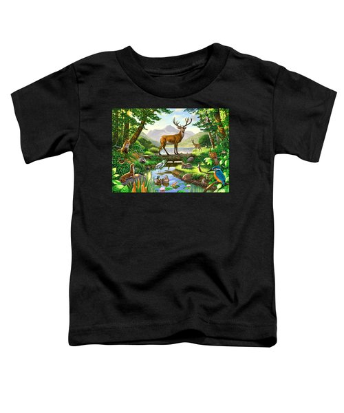 Woodland Harmony Toddler T-Shirt by Chris Heitt