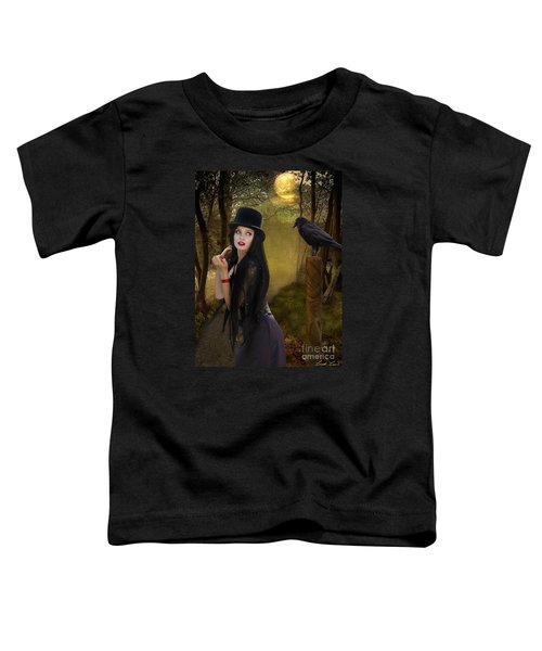 Words Of The Crow Toddler T-Shirt by Linda Lees