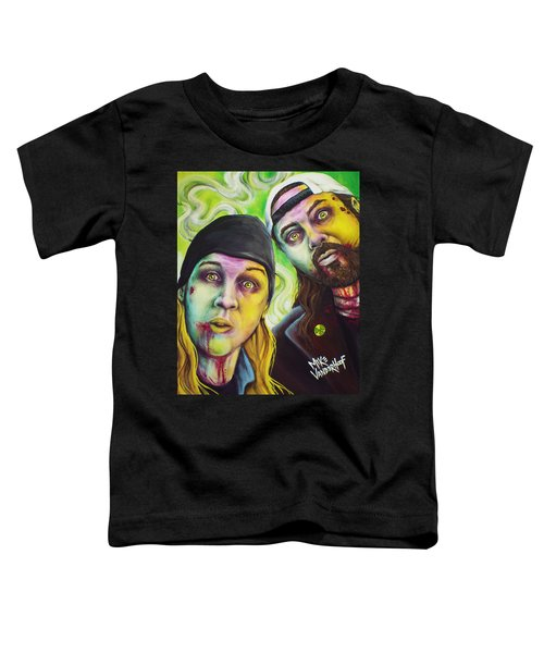 Zombie Jay And Silent Bob Toddler T-Shirt by Mike Vanderhoof