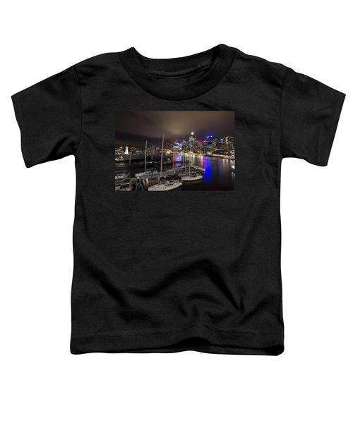 Darling Harbor Sydney Skyline 2 Toddler T-Shirt by Douglas Barnard