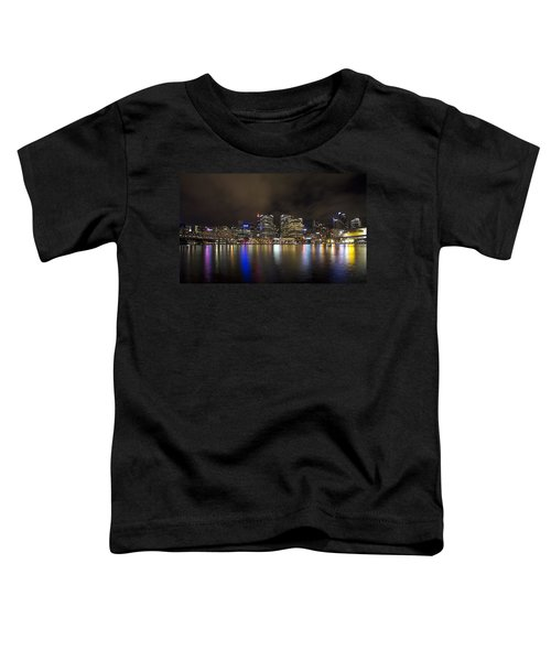 Darling Harbor Sydney Skyline Toddler T-Shirt by Douglas Barnard