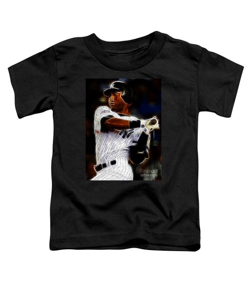 Derek Jeter New York Yankee Toddler T-Shirt by Paul Ward