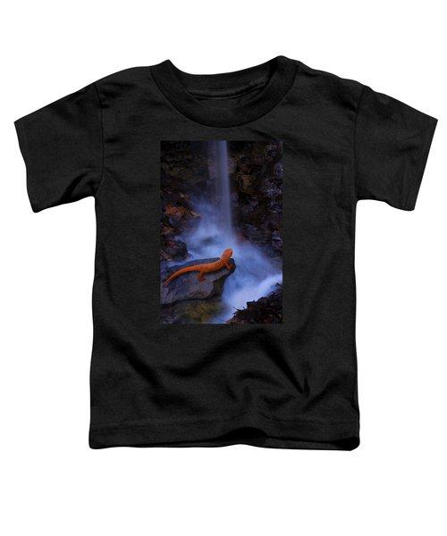 Newt Falls Toddler T-Shirt by Ron Jones
