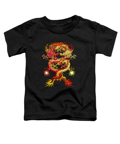 Brotherhood Of The Snake - The Red And The Yellow Dragons Toddler T-Shirt by Serge Averbukh