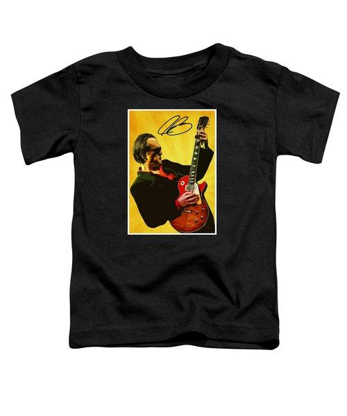 Joe Bonamassa Toddler T-Shirt by Semih Yurdabak