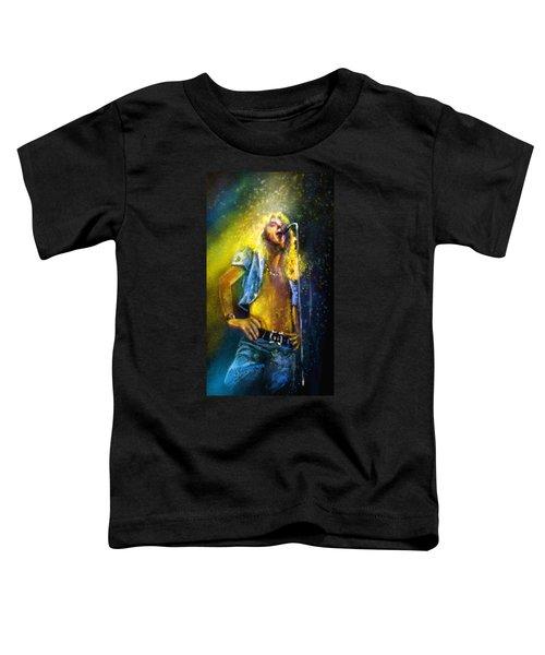 Robert Plant 01 Toddler T-Shirt by Miki De Goodaboom