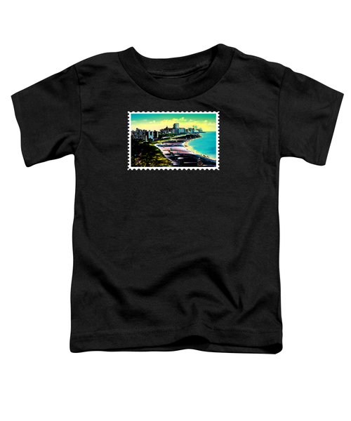 Surreal Colors Of Miami Beach Florida Toddler T-Shirt by Elaine Plesser