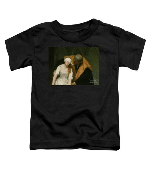 The Execution Of Lady Jane Grey Toddler T-Shirt by Hippolyte Delaroche