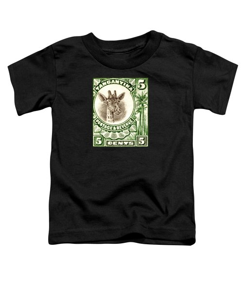 1922 East African Giraffe Stamp Toddler T-Shirt by Historic Image