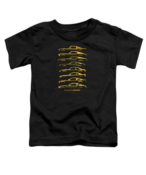 Ford Mustang Silhouettehistory Toddler T-Shirt by Gabor Vida