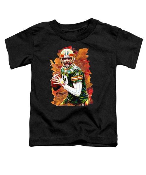 Aaron Rodgers Toddler T-Shirt by Maria Arango