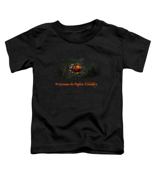 Welcome To Gator Country Toddler T-Shirt by Mark Andrew Thomas