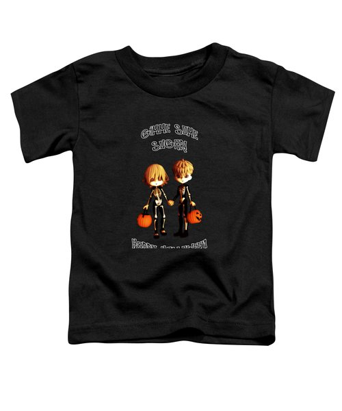 Skeleton Twinz Halloween Toddler T-Shirt by Methune Hively