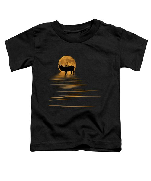Elk In The Moonlight Toddler T-Shirt by Shane Bechler