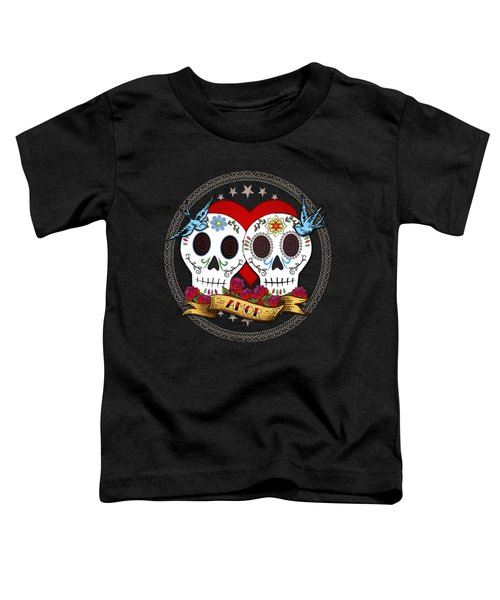 Love Skulls II Toddler T-Shirt by Tammy Wetzel