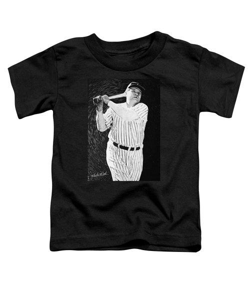 Babe Ruth Toddler T-Shirt by Taylan Apukovska