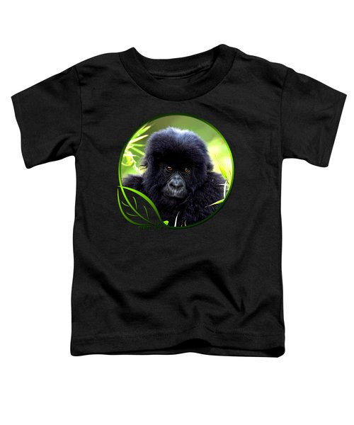 Baby Gorilla Toddler T-Shirt by Dan Pagisun