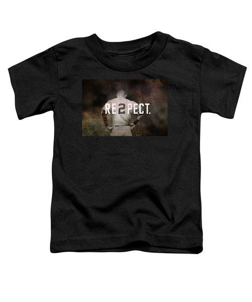 Baseball - Derek Jeter Toddler T-Shirt by Joann Vitali
