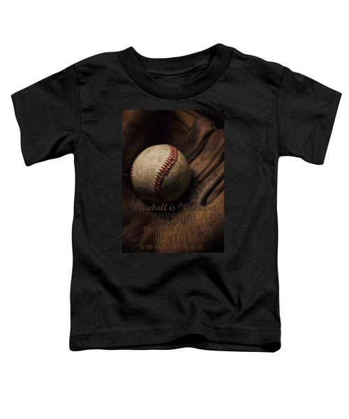 Baseball Yogi Berra Quote Toddler T-Shirt by Heather Applegate