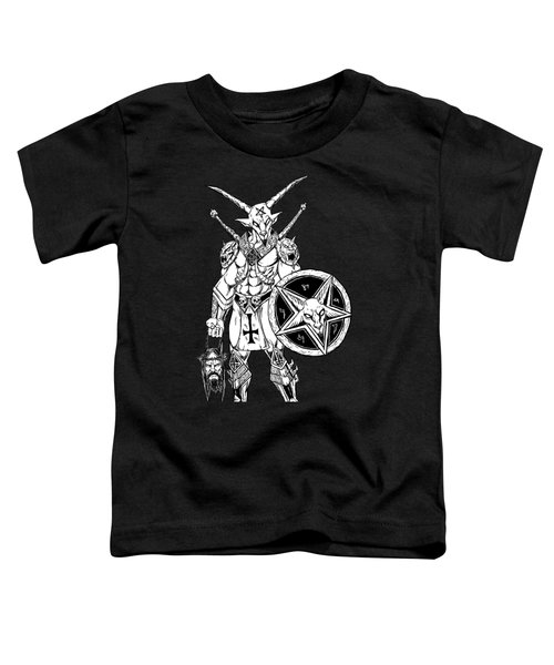 Battle Goat Black Toddler T-Shirt by Alaric Barca
