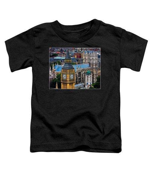 Big Ben And Westminster Abbey Toddler T-Shirt by Chris Lord