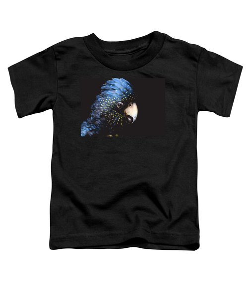 Black Cockatoo Toddler T-Shirt by Rebecca Costa