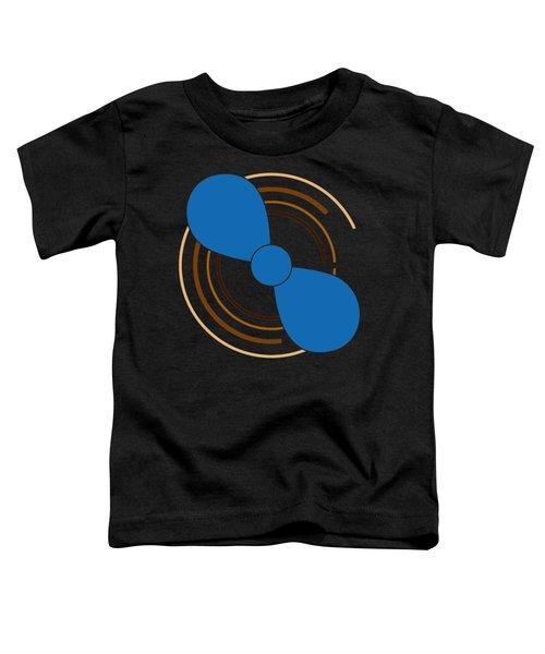 Blue Propeller Toddler T-Shirt by Frank Tschakert