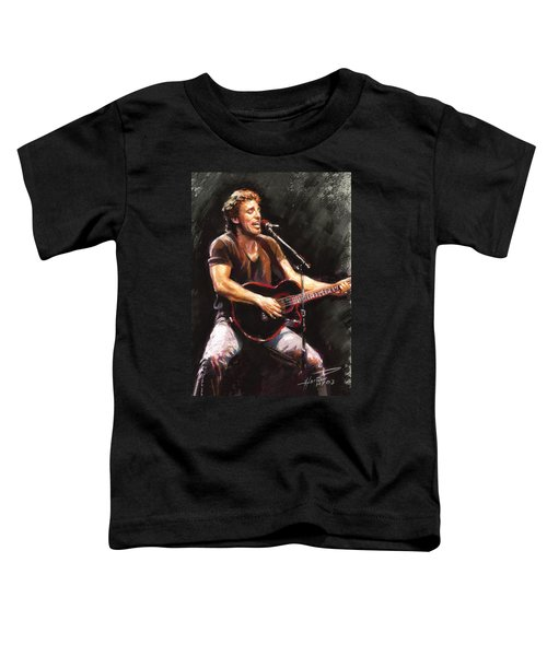 Bruce Springsteen  Toddler T-Shirt by Ylli Haruni
