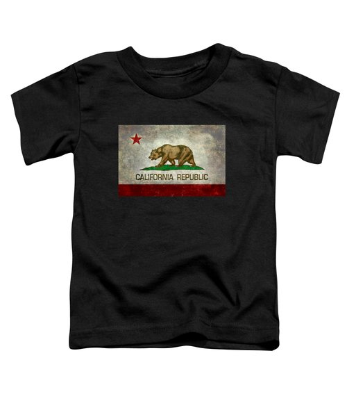 California Republic State Flag Retro Style Toddler T-Shirt by Bruce Stanfield