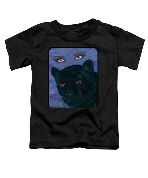 Carmilla - Black Panther Vampire Toddler T-Shirt by Carrie Hawks