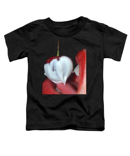 Cherries And Cream Toddler T-Shirt by Joann Vitali