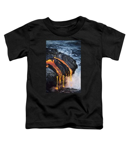 Close-up Lava Toddler T-Shirt by Don King - Printscapes