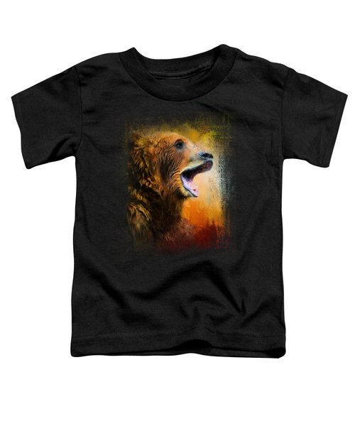 Colorful Expressions Grizzly Bear 2 Toddler T-Shirt by Jai Johnson