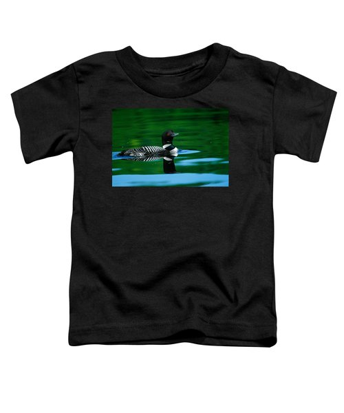 Common Loon In Water, Michigan, Usa Toddler T-Shirt by Panoramic Images