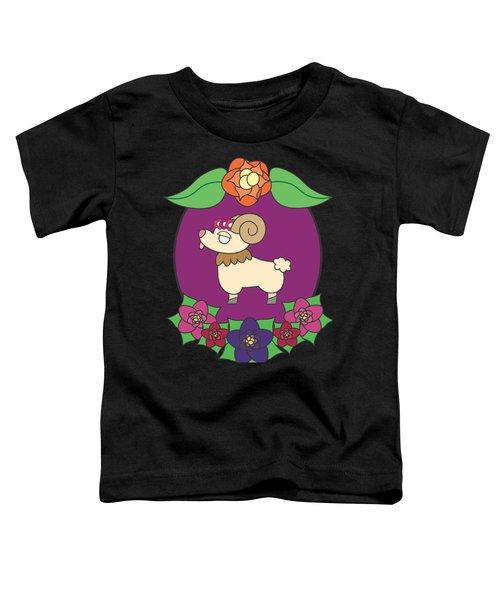 Cute Goat Toddler T-Shirt by Jadrien Douglas