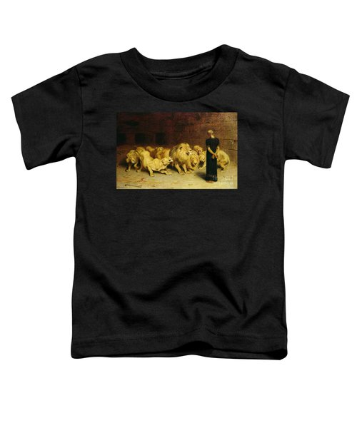 Daniel In The Lions Den Toddler T-Shirt by Briton Riviere