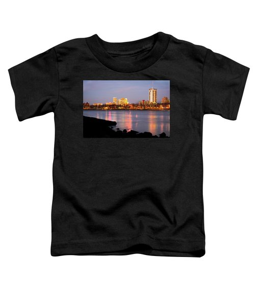 Downtown Tulsa Oklahoma - University Tower View Toddler T-Shirt by Gregory Ballos
