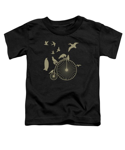 Dude The Birds Are Flocking Tan Transparent Background Toddler T-Shirt by Barbara St Jean