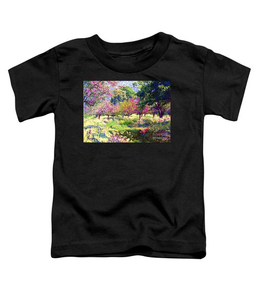Echoes From Heaven, Spring Orchard Blossom And Pheasant Toddler T-Shirt by Jane Small